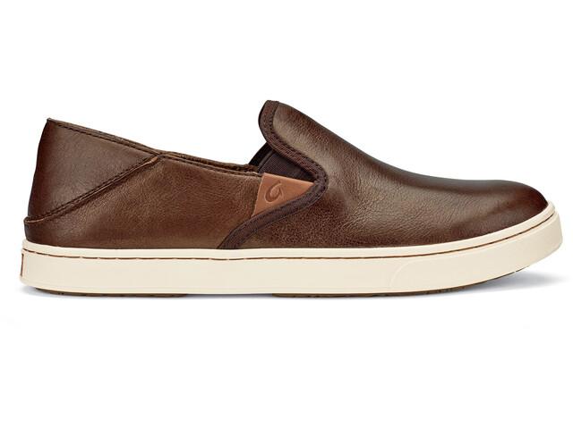 OluKai W's Pehuea Leather Shoes Bronze/Dark Java